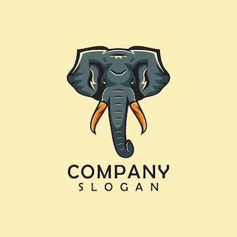 Logotipo animal elefante