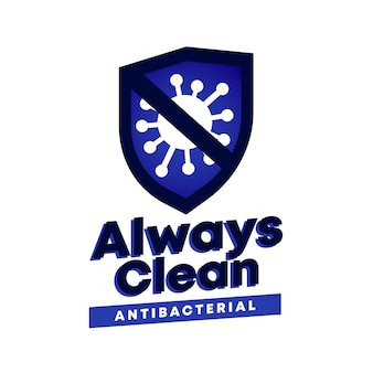 Logotipo antibacteriano com slogan