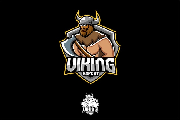 Logotipo antigo do esporte de viking