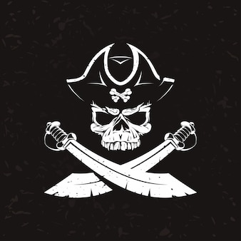 Logotipo antigo pirata