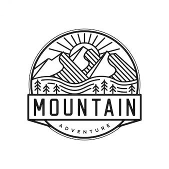 Logotipo ao ar livre com estilo de lineart