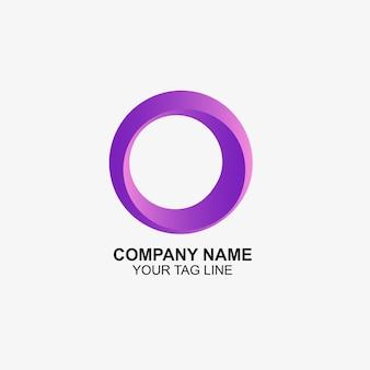 Logotipo arredondado abstrato