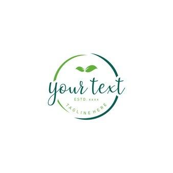 Logotipo arredondado ecológico