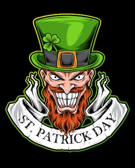 Logotipo assustador de st patrick day