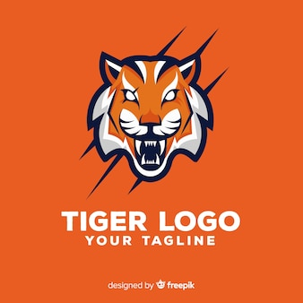 Logotipo assustador do tigre