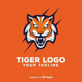 Logotipo assustador do tigre