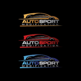 Logotipo auto sport car