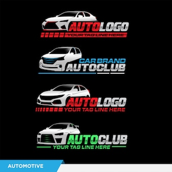 Logotipo automotivo com carro