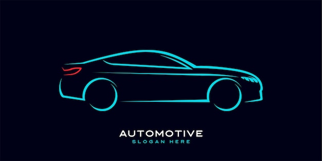 Logótipo automóvel com linhas dinâmicas e modernas e sofisticadas