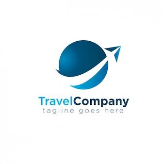 Logotipo azul abstrato circular