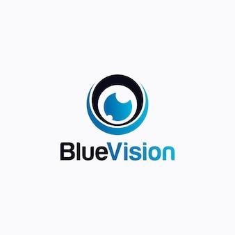 Logotipo azul da visão