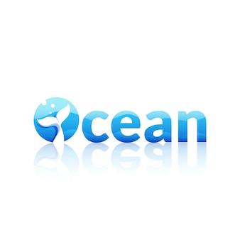 Logotipo azul oceano