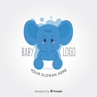 Logotipo bebê elefante