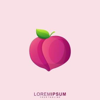 Logotipo bonito abstrato apple premium