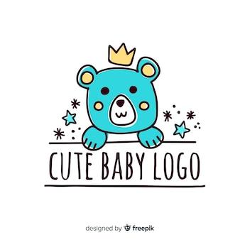 Logotipo bonito bebê