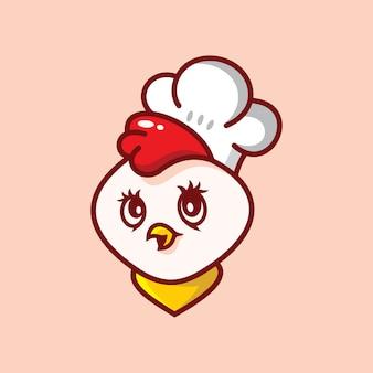 Logotipo bonito de frango