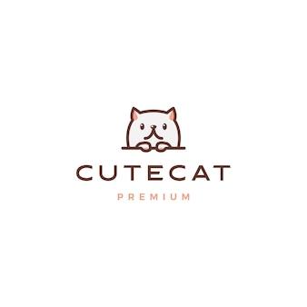 Logotipo bonito gato