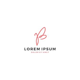 Logotipo borboleta letra b