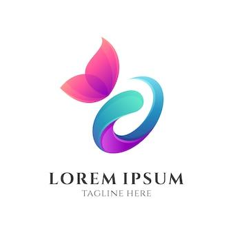 Logotipo brilhante borboleta