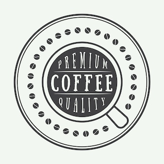 Logotipo café, etiqueta