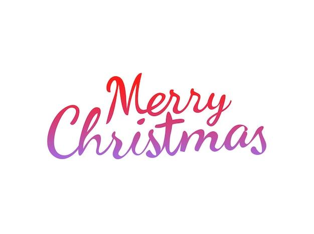 Logotipo caligráfico de feliz natal isolado no branco. modelo de vetor para saudações de natal. maquete de cartão de projeto de letras caligráficas de texto vetorial