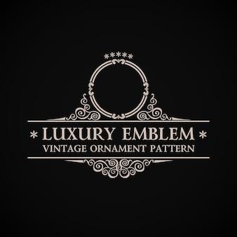 Logotipo caligráfico vintage em ornamento de decoração