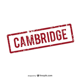 Logotipo carimbo de borracha cambridge