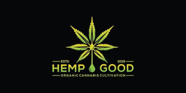 Logotipo cbd cannabis maconha maconha