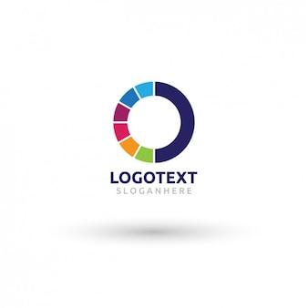 Logotipo circular colorido
