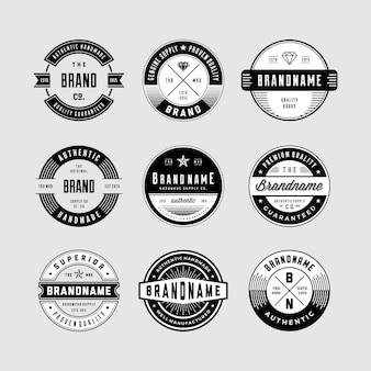 Logotipo circular vintage