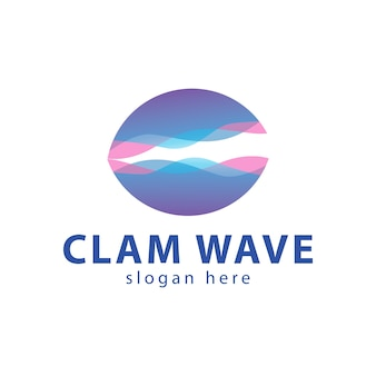 Logotipo clam wave color