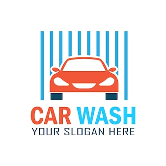 Logotipo clássico da lavagem de carros