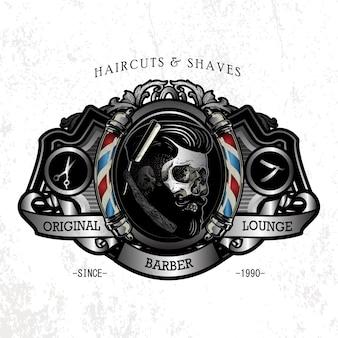 Logotipo clássico de barbearia