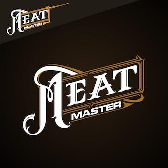 Logotipo clássico de meat master