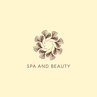 Logotipo clássico de spa e beleza