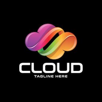 Logotipo colorido abstrato da nuvem