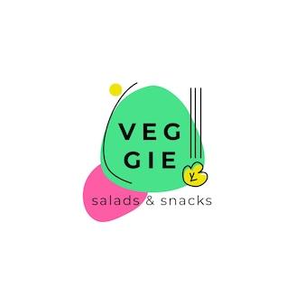 Logotipo colorido abstrato de comida
