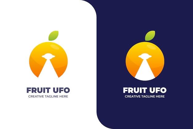 Logotipo colorido abstrato laranja ufo