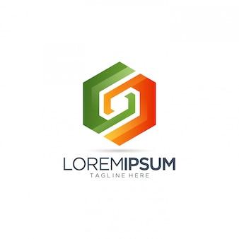 Logotipo colorido abstrato