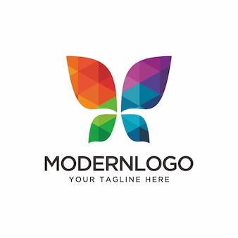 Logotipo colorido borboleta