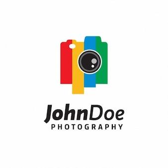 Logotipo colorido câmera