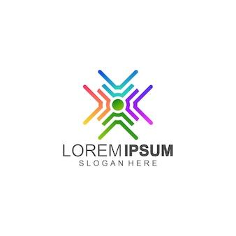 Logotipo colorido completo