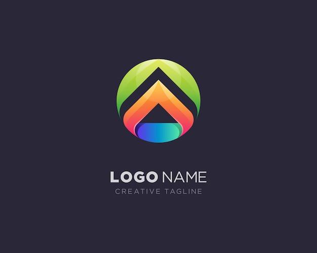 Logotipo colorido criativo