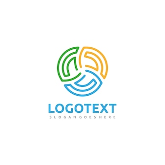 Logotipo colorido da associação