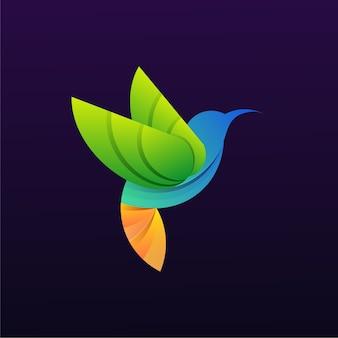 Logotipo colorido da colibri