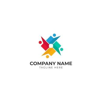 Logotipo colorido da comunidade empresarial
