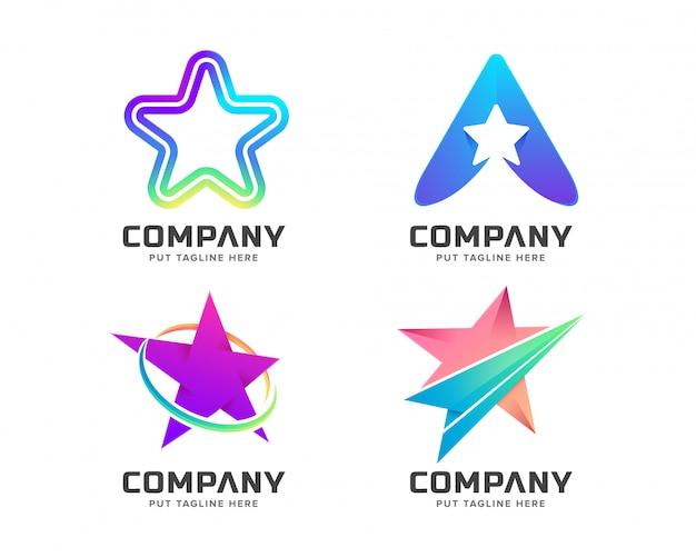 Logotipo colorido da estrela para empresa