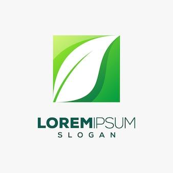 Logotipo colorido da folha