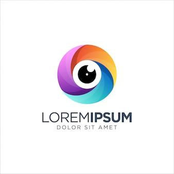Logotipo colorido da fotografia