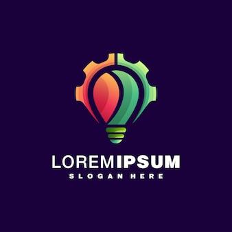 Logotipo colorido da lâmpada